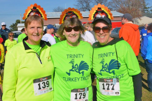 Participants in the Trinity Turkey Trot last year. The Oswego race will take place Nov. 19, the Sunday before Thanksgiving. Races in Baldwinsville, Manlius and Liverpool take place in the morning on Thanksgiving Day.