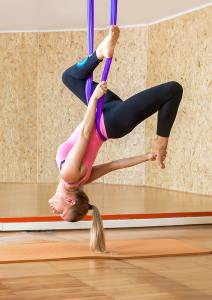 Aerial yoga is one alternative ways to practice yoga. It's increasingly more popular in the area.