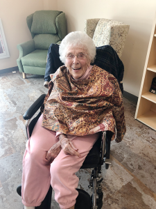 """Catherine Sellin, age 101: She credits her long life to her habit of """"working hard and eating good,"""" she says. """"And get a man."""""""