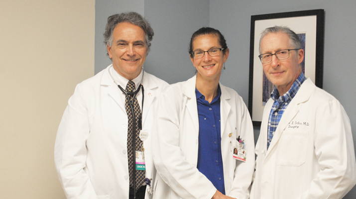 Physicians James Sartori, Tammy Congelli and William Schu of CNY Surgical Physicians. They are also part of the Breast Care Program.