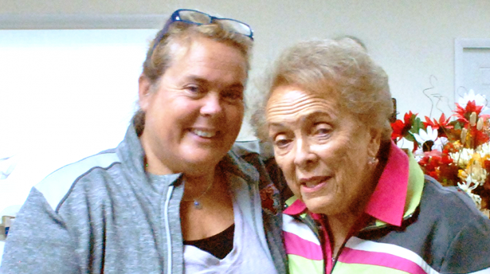 Rosamond Gifford Hope for Bereaved Center founder Therese Schoeneck (right) and her daughter Margie Schoeneck Nye help the organization to celebrate its 40th anniversary.