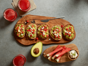 Avocado Toast with Watermelon — Take a break from traditional breakfast fare and try this tasty, nutritious alternative. It's both creamy and crunchy and packed with flavor, along with nutrients, such as calcium and iron.