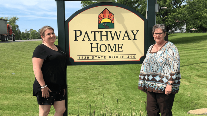 "Running the Pathway Home of the Finger Lakes is Assistant Director Beth Boehnke (left) and Executive Director Martha ""Martie"" Shields."