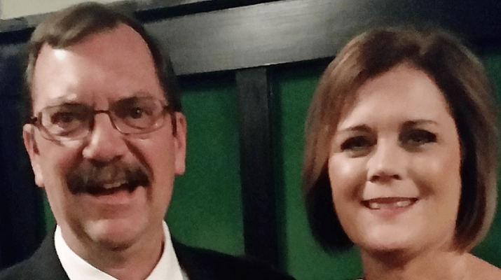 Randy and Eileen Jevis at their daughter's wedding in 2016. Photo provided.