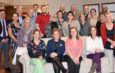 Staff of Oswego Health during a a presentation of Engagement Champion Awards.