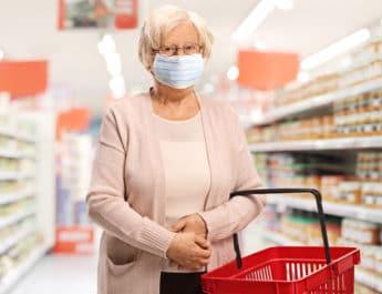 Older woman shopping