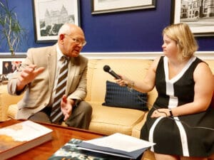 McKeon interviewing Congressman Paul Tonko (D-NY20) on his stand on various issues.