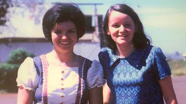 A photo of Carol Steckel, left, and Linda Curtis, taken in 1972 when Curtis first arrived in South Vietnam. Steckel and Curtis carried out missionary work as nurses in the war-torn country. In January 2019, at the age of 75, Curtis died after a battle with AL amyloidosis.