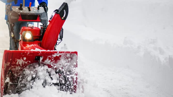 Snow blowers with an average sound level of about 80 to 85 decibels can potentially harm your hearing after two consecutive hours of exposure, according to the Centers for Disease Control and Prevention. Other noises that can cause hearing loss include firecrackers, sirens and other loud sounds.
