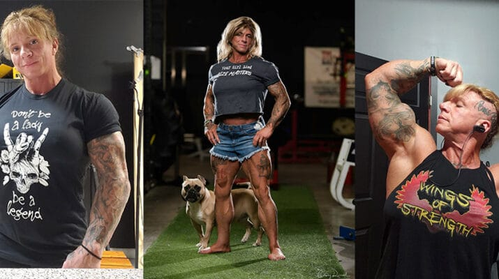 Rheta West, owner of Blood Iron in Syracuse. She is certified in special strengths by Westside Barbell. A powerlifter for 13 years, she has set nine all-time world records and is considered one of the world's strongest women.