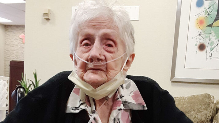 """Ellen Ball, who lives at The Grand Rehabilitation and Nursing at Mohawk Valley in Ilion, turned 102 in May. """"Enjoy your family. Have parties. Don't waste time arguing and fighting. Put family first. And dance. Enjoy life,"""" she says."""